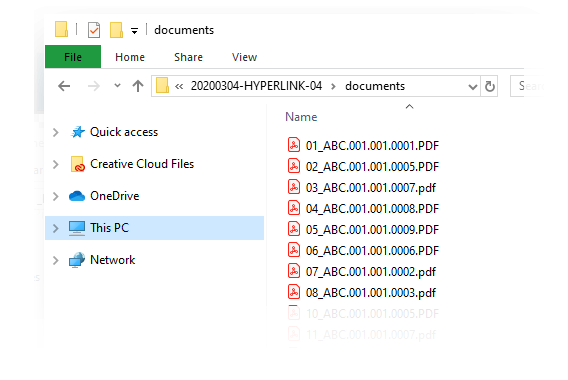 HyperlinQ - Prefixed Documents Windows Explorer