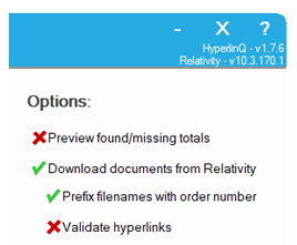 HyperlinQ - Prefix Search Order Example document